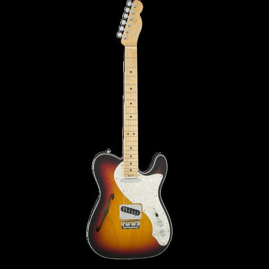 Fender American Elite Telecaster® Thinline 3-Color Sunburst / Maple ( 0885978682379 )