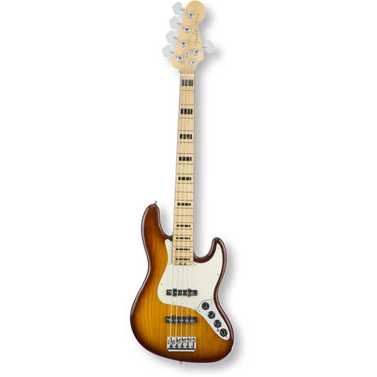 Fender American Elite Jazz Bass® V/Ash /Maple/ Tobacco Burst ( 0885978656004 )