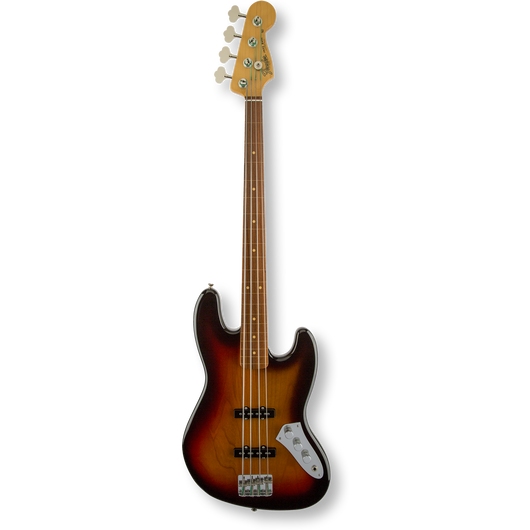Fender Jaco Pastorius Jazz Bass® Fretless/ Pau Ferro Fingerboard/ 3-Color Sunburst ( 0717669010386 )