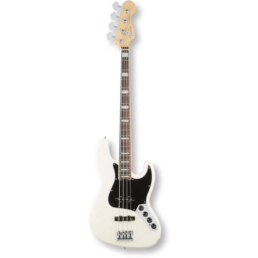 Fender American Elite Jazz Bass® R/ Olympic White ( 0885978656011 )