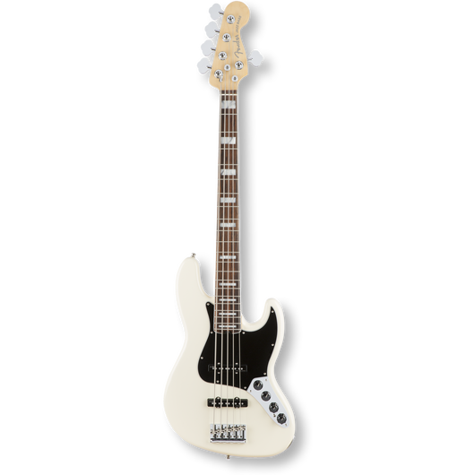 Fender American Elite Jazz Bass® V/Rosewood/ Olympic White ( 0885978655984 )