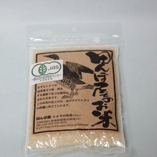 【白米】 有機JAS(有機米) コシヒカリ300g 29年産 茨城県産 田んぼ屋のお米