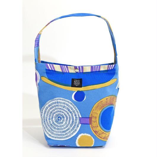 マチトートバッグ 「ランプフラワー」blue