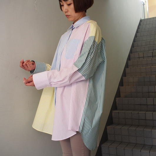 TARO HORIUCHI/パッチワークオーバーシャツ