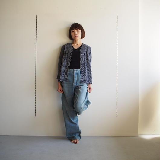 JANE SMITH/  タックVネックシャツ