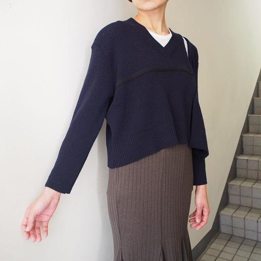 TARO HORIUCHI/Vネックセパレートニット