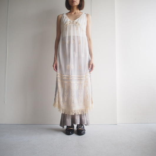 SATOKO OZAWA/タスマリンチュールキャミワンピース