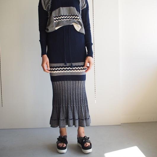 SATOKO OZAWA/エスニックニットスカート