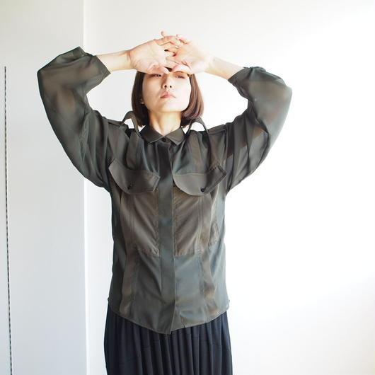 AKANE  UTSUNOMIYA/シルクミリタリーシャツ