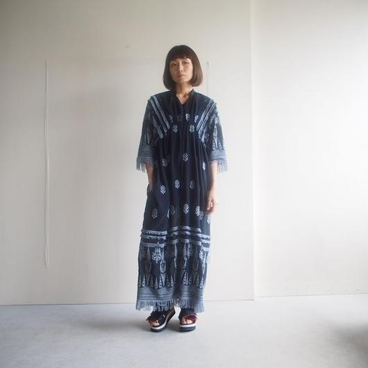 SATOKO OZAWA/タリスマンガウン7分袖ワンピース