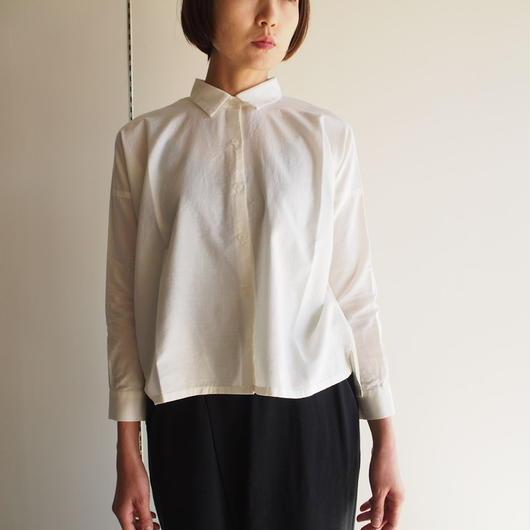 evam  eva/コットンカシミアスクエアシャツ