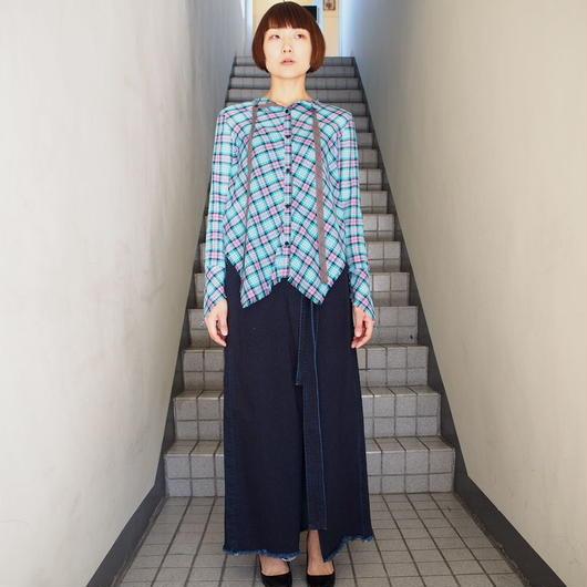 AKANE  UTSUNOMIYA/チェックバッグリボンシャツ