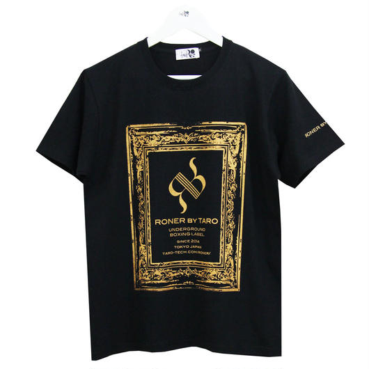 RONER      antique BOX  logo  T-shirt