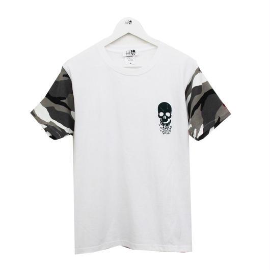 RONER  camouflage sleeve T-shirt   WHITE