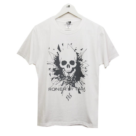 RONER  GLASS  JAW  T-shirt  Vol.3  WHITE x GRAY