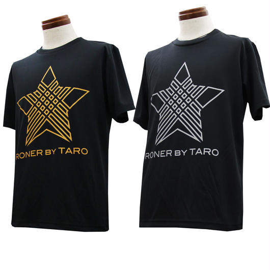RONER SPORT   NAKED STAR  dry T-shirt    GOLD/SILVER