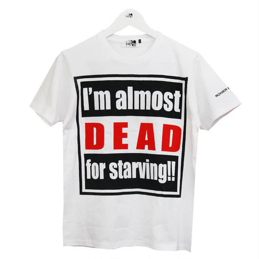 RONER hungry T-shirt  WHITE