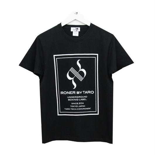 RONER  BOX  LOGO  T-shirt  BLACK