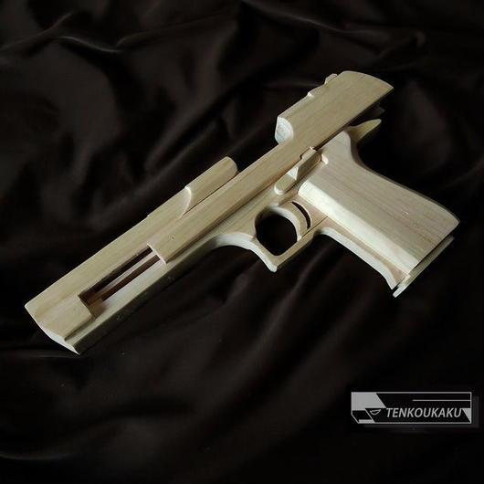 ブローバックする輪ゴム銃製作解説書PDFデータ・デザートイーグルタイプⅡ
