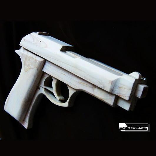 ブローバックする輪ゴム銃製作解説書PDFデータ・ベレッタタイプ