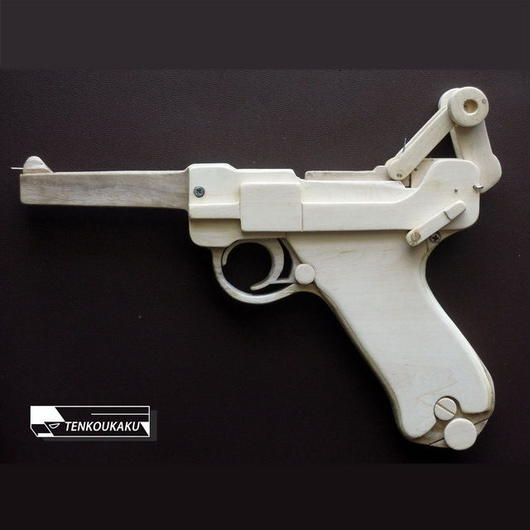 Blowback Rubber Band Gun ・Luger Type(Drawing only) Please check the item description.