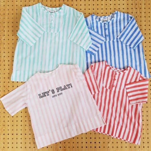 muu muu[ムームー]/STRIPE  HENRY  TOP