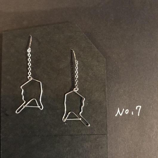 iki 針金アクセサリー ピアス両耳用(指差し&指差し)