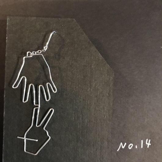 iki 針金アクセサリー ピアス片耳用(じゃんけん)
