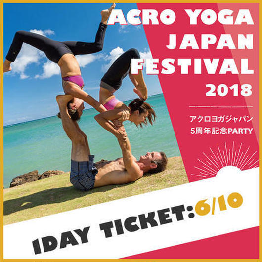 ACRO YOGA FESTIVAL 20180610 1 DAY パス