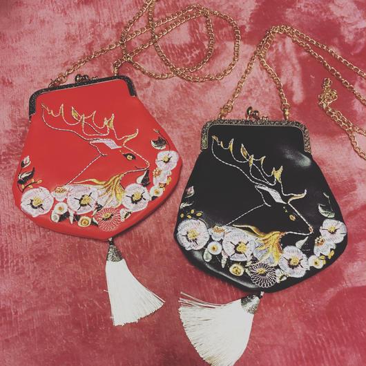 刺繍ミニバッグ