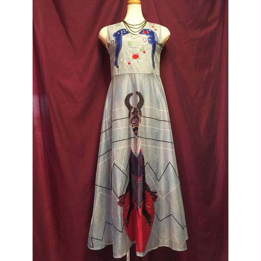 sizeM アフリカンプリント ロングワンピース ドレス