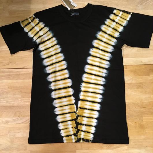 メンズタイダイTシャツ 黒  L