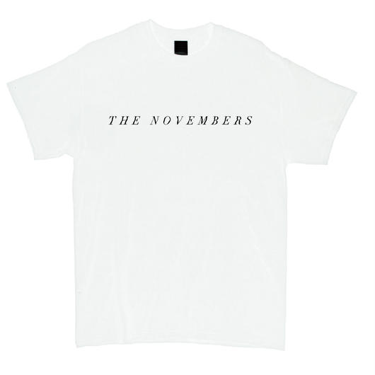 """THE NOVEMBERS"" T-Shirt (White / MERZ-161)"