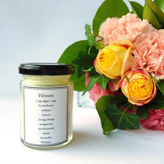 【Flowers 華のしずく】 organic aroma luxury candle