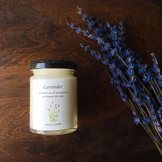 Lavender 〜そよ風〜natural aroma soy candle