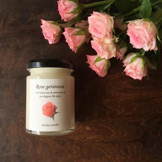 ローズガーデン elegant natural soy candle