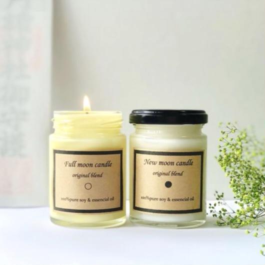 【満月と新月の灯び】 healing aroma blend magic soy candle~2本セット~