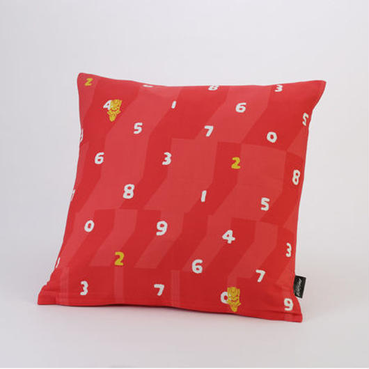EVANGELION Cushion (textile design by SOU・SOU) 弐号機