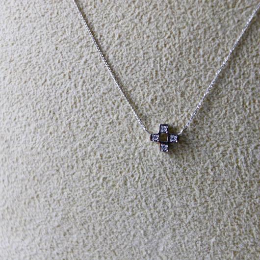 PT900ダイヤ ミンサー(四つ)ネックレス