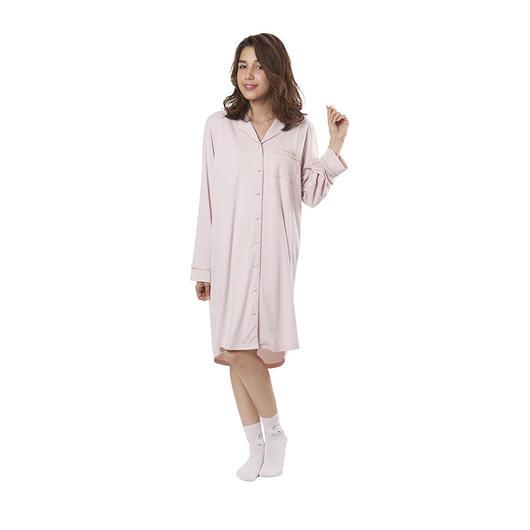 【ピーチスキンシャツワンピース】P91434-763