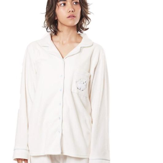リボン付き【ラビット刺繍シャツ上下セット】P91454-744