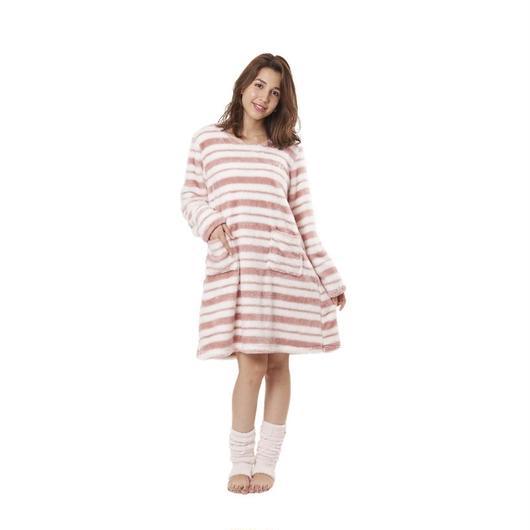 【シャギーボアボーダーワンピース】P91440-534