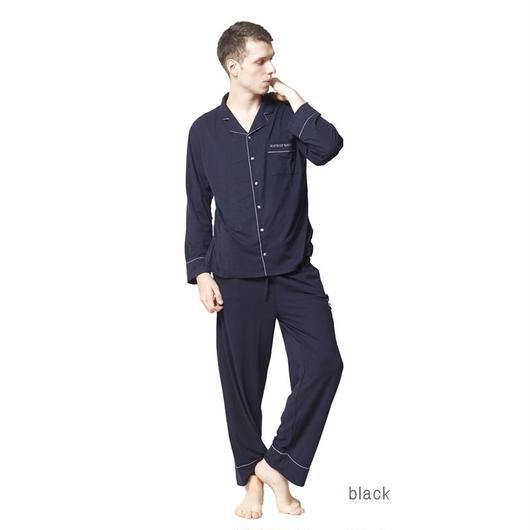 メンズ【ピーチスキンシャツ上下セット】P91443-763