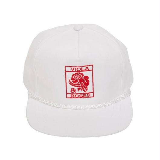 VIOLA&ROSES  CAP   No.002 WHITE