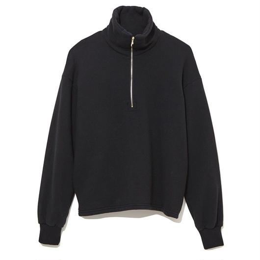 NAISSANCE  HALF ZIP TURTLE NECK CUT-SWEN