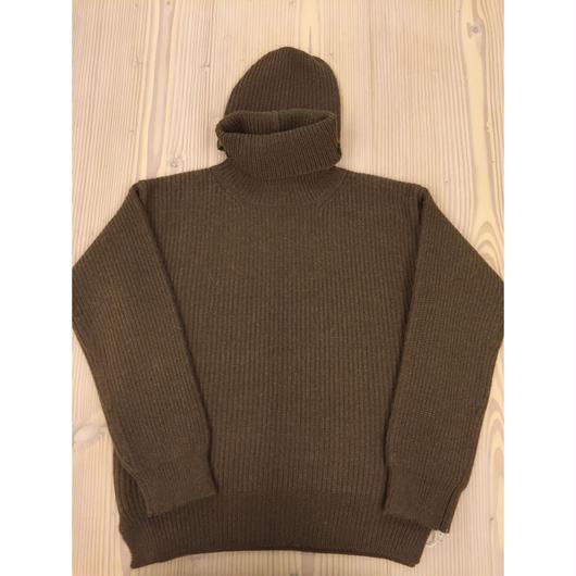 foof wool alpaca balaclava knit pullover