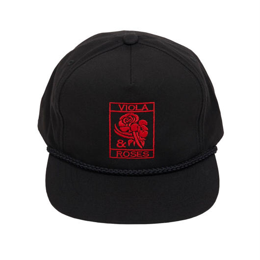 VIOLA&ROSES  CAP   No.002 BLACK