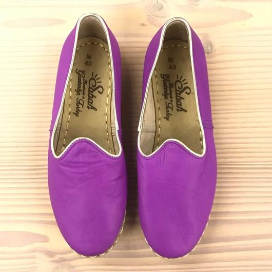 Sabah  (サバ)SLIP-ON smooth leather MAGENTA