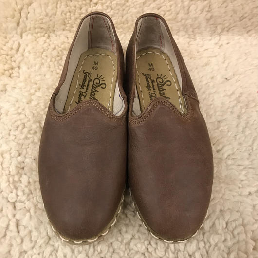 Sabah  (サバ)SLIP-ON smooth leather Bonsai Brown