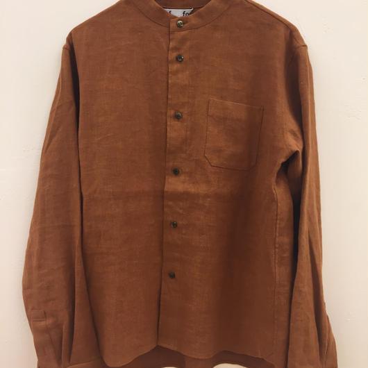 foof linen flannnel stand collar shirts